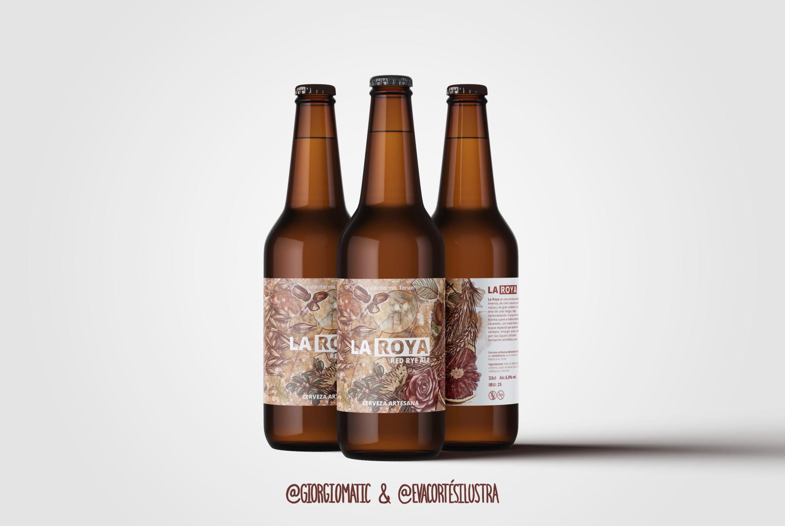 """En este momento estás viendo Etiqueta de cerveza """"La Roya"""""""