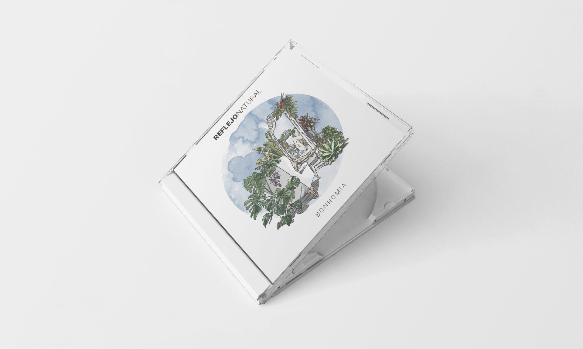 Disco físico música ilustrado evacortesilustra