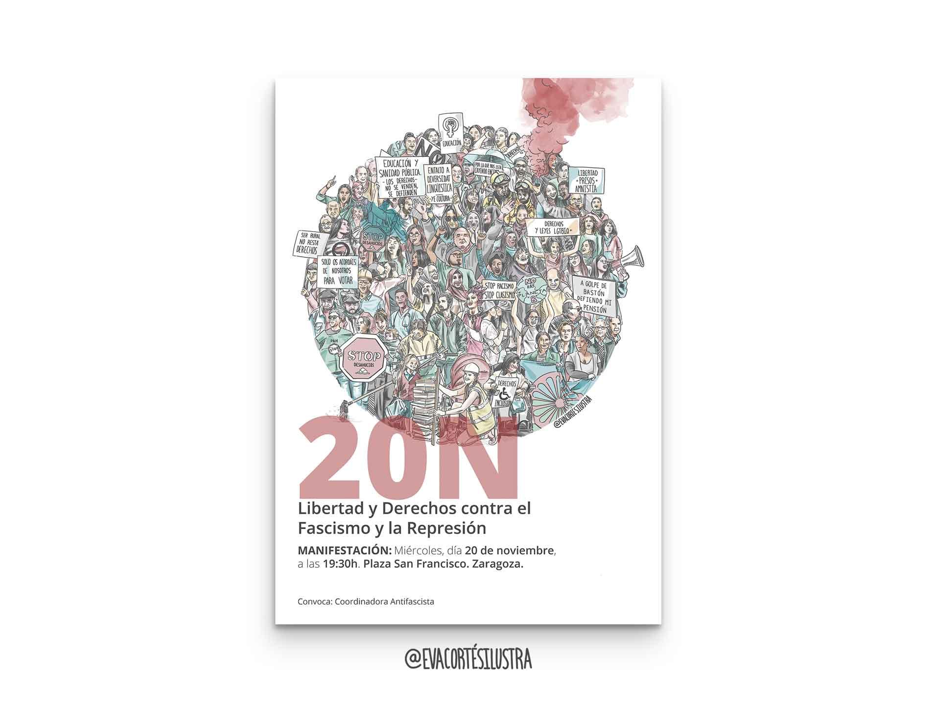 En este momento estás viendo Cartel 20N, Contra la Represión