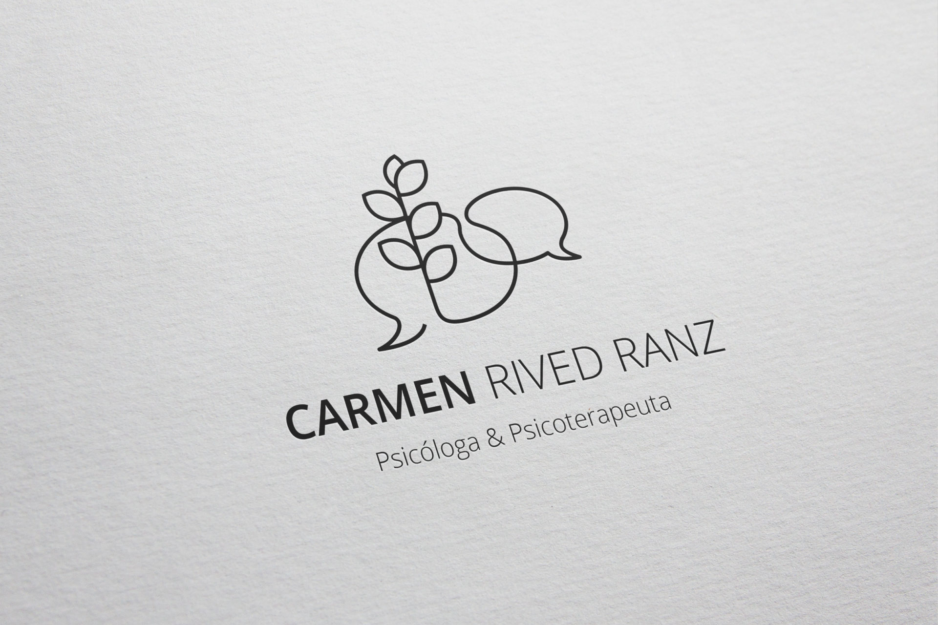 Logotipo Carmen Rived Psicóloga eva cortes ilustra